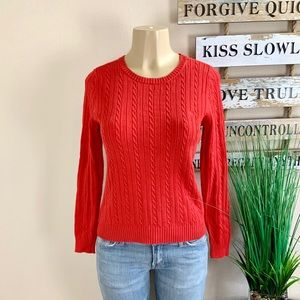 IZOD | Red Cable Knit Sweater
